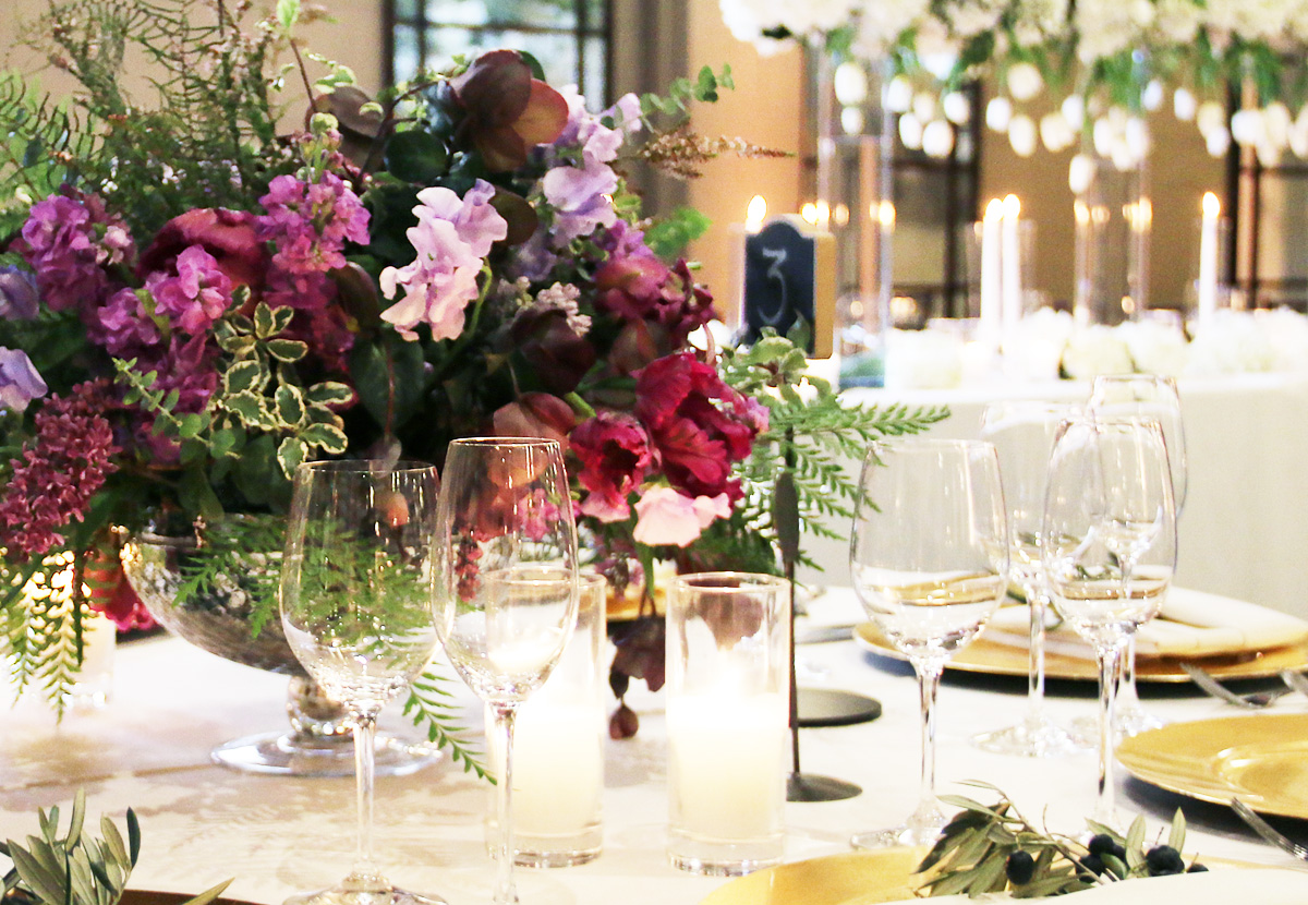 Image of table decorated