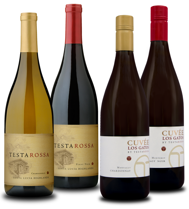 Bottles of testarossa wines