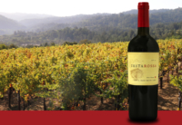 Santa Cruz Mountains vineyard and bottle