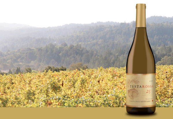 Santa Cruz Mountain bottle and vineyard image