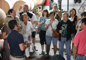 Group of guests enjoying Barrel Tasting