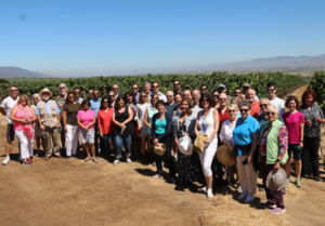 Group of guests enjoying the Vineyard Trip