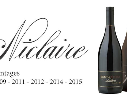 JRS – Vertical of Testarossa Niclaire Pinot Noir