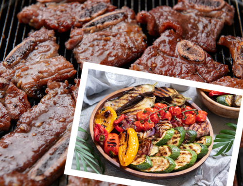 SF Kalbi BBQ Beef Ribs with Charred Summer Vegetables Wine Paired Recipe